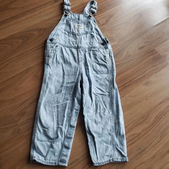 ⭐4/40⭐Oshkosh | Polka dot jean overalls - 24M